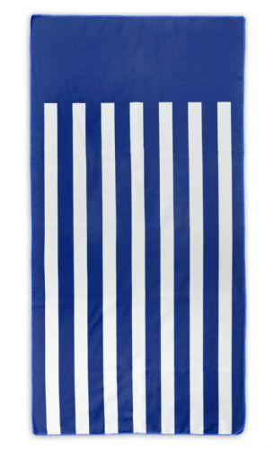Microfibre Lightweight Beach Towel For Holiday Travel Camping Yoga Gym 70x140cm Blue Stripes